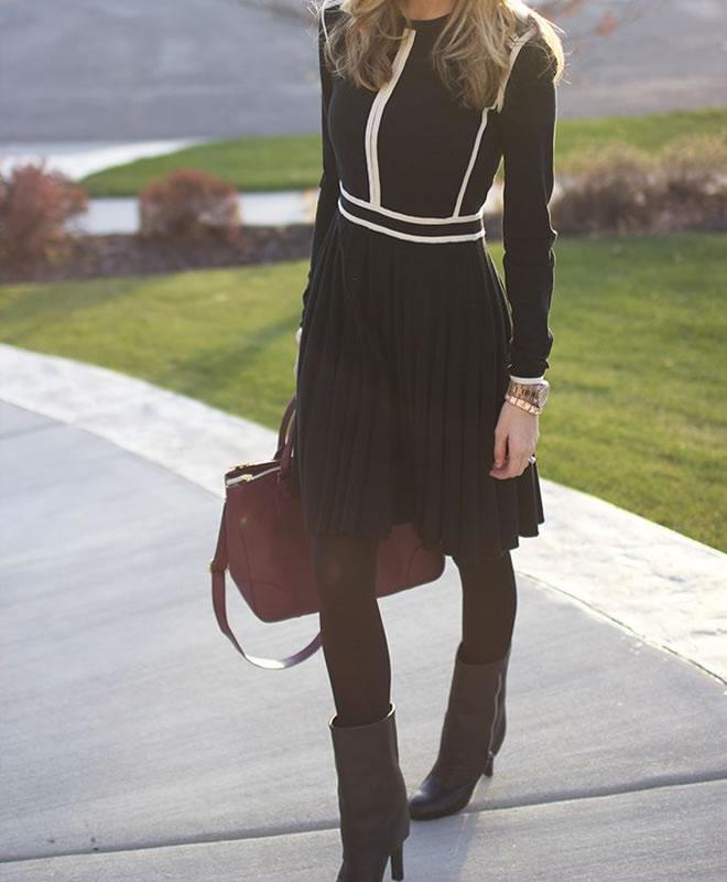 Looks para trabalhar: Inverno vestido