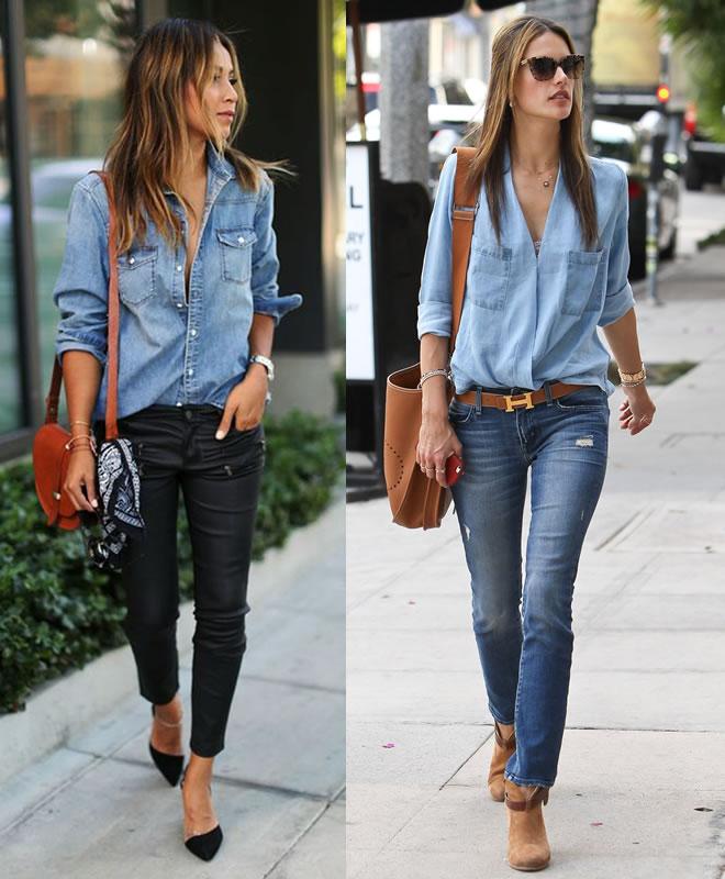 As melhores combinações para a camisa jeans - 1 | Moda de Departamento