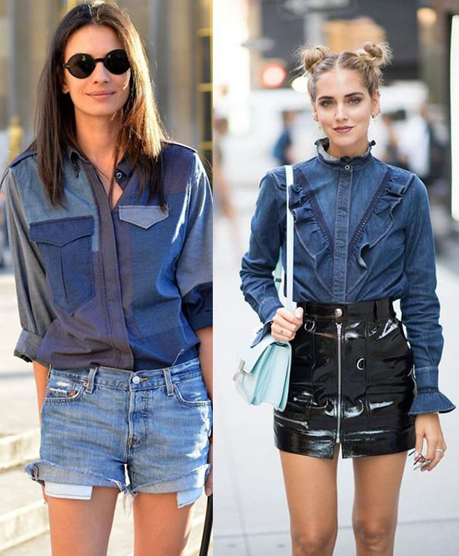 As melhores combinações para a camisa jeans – 2