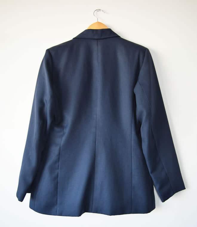 Blazer azul – costas