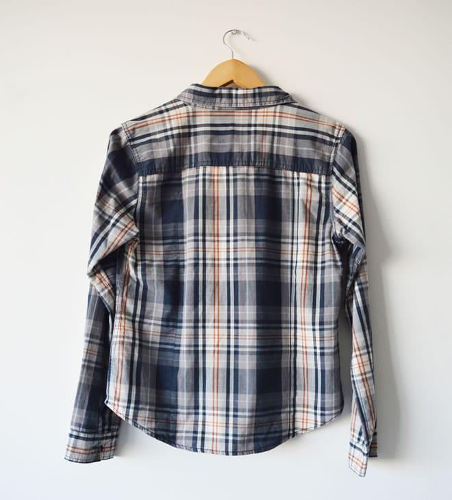 Camisa xadrez – costas
