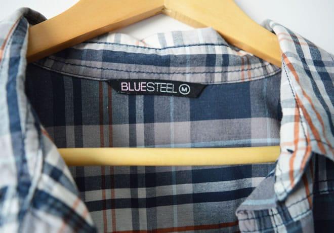 Camisa xadrez - etiqueta