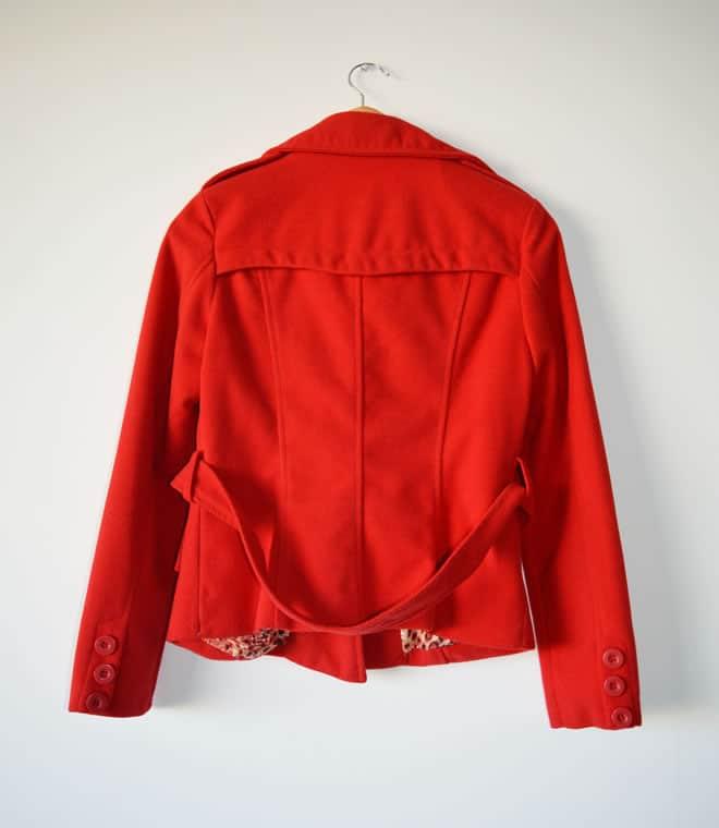Casaco vermelho – costas