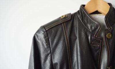 Jaqueta de couro legítimo marrom - capa