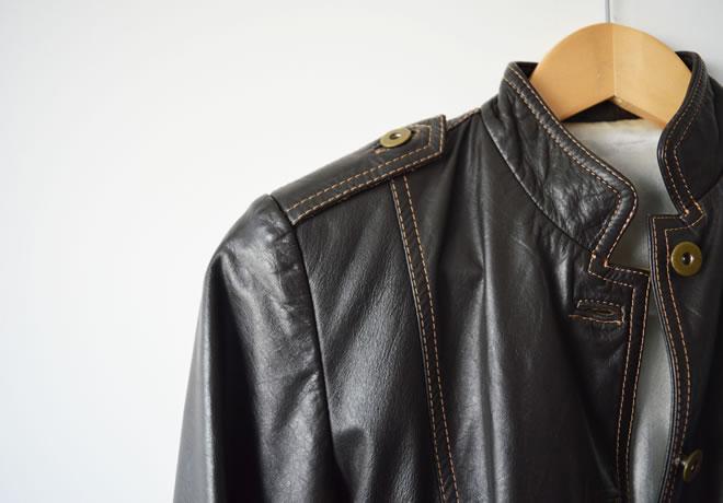 Jaqueta de couro legítimo marrom – capa
