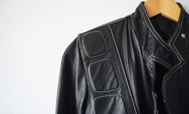Jaqueta de couro legítimo preta - capa