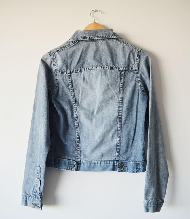 Jaqueta jeans – costas