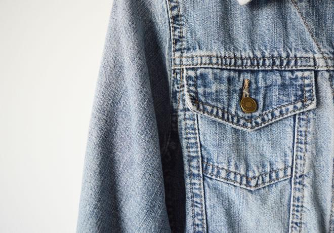 Jaqueta jeans – detalhe