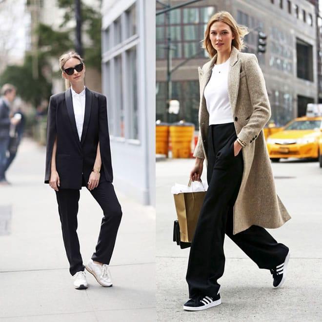 Como usar tênis no ambiente de trabalho de forma cool e elegante - calça