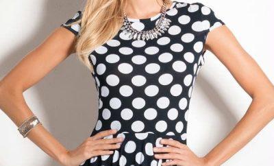 blusa de bolinha modelo 4