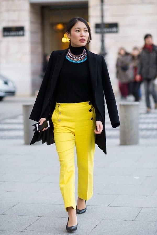 Calcas Coloridas Amarela