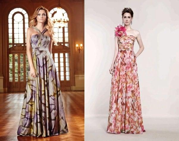 vestidos com cores e estampas