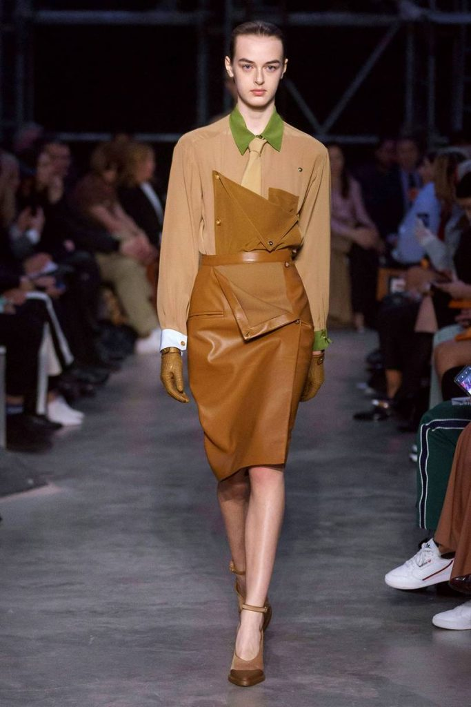 Jaqueta de couro Burberry