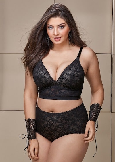 conjunto lingerie plus size demillus