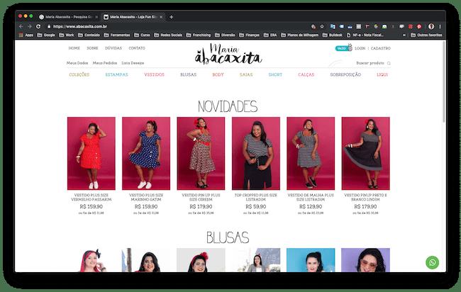 lojas plus size Maria Abacaxita Fashion