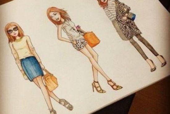 Você adora Moda  e Adora Desenhar?