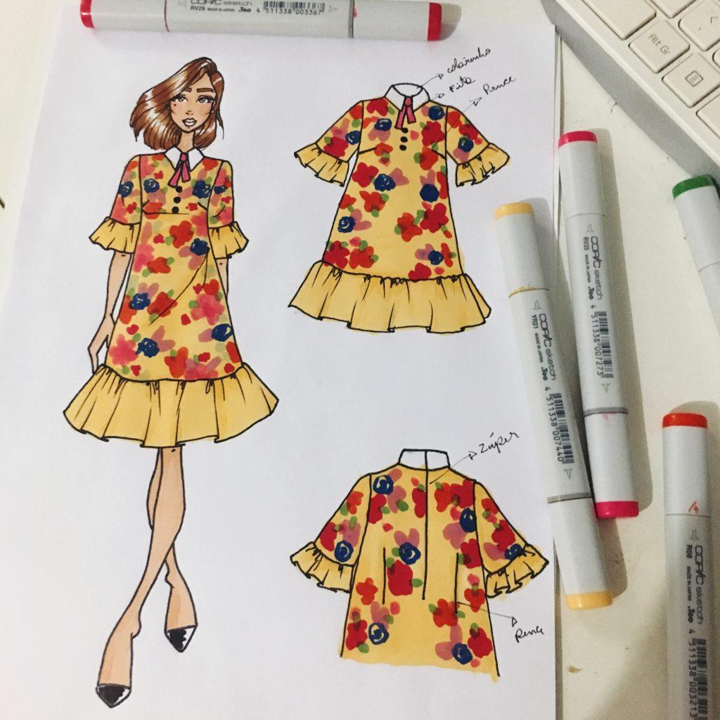 como desenhar roupas modelo 01