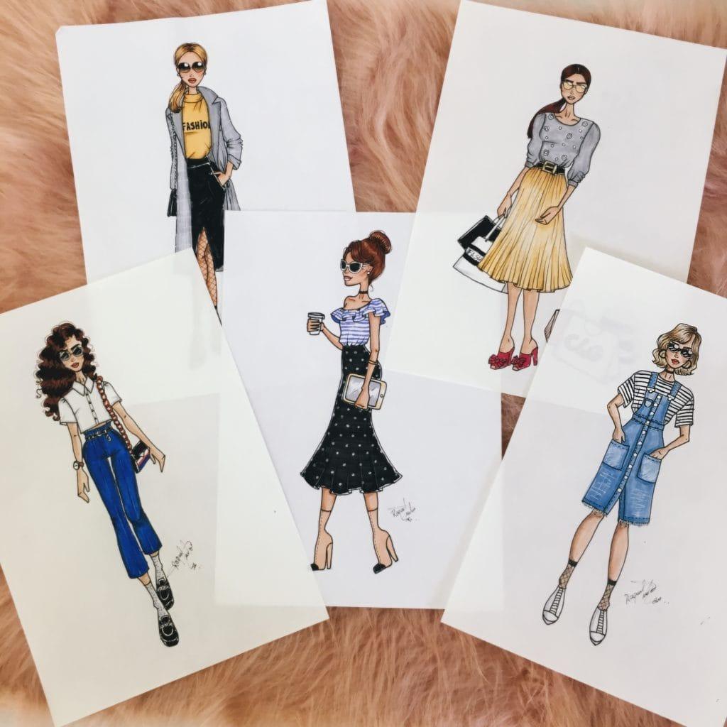 como desenhar roupas modelo 02