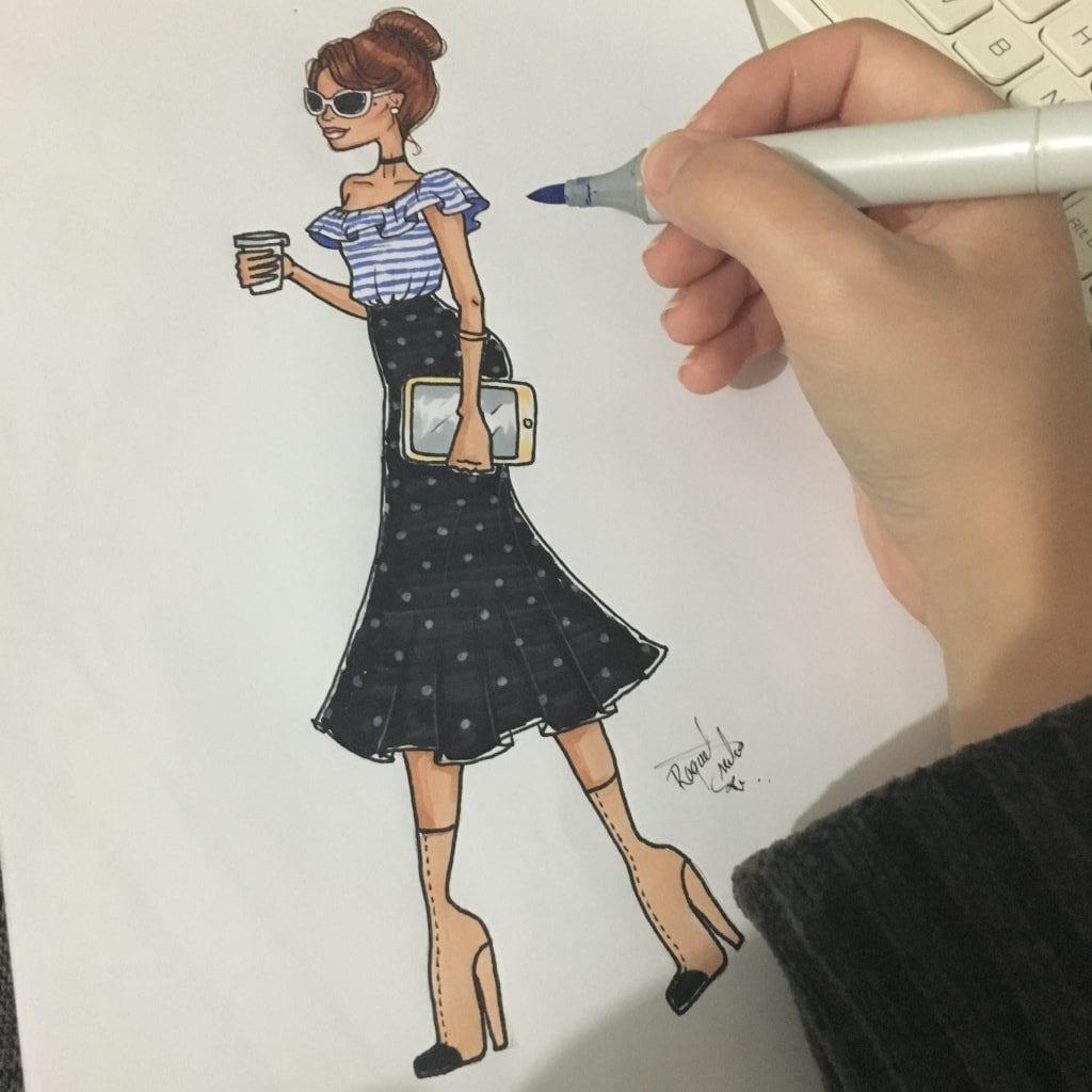 como desenhar roupas modelo 03