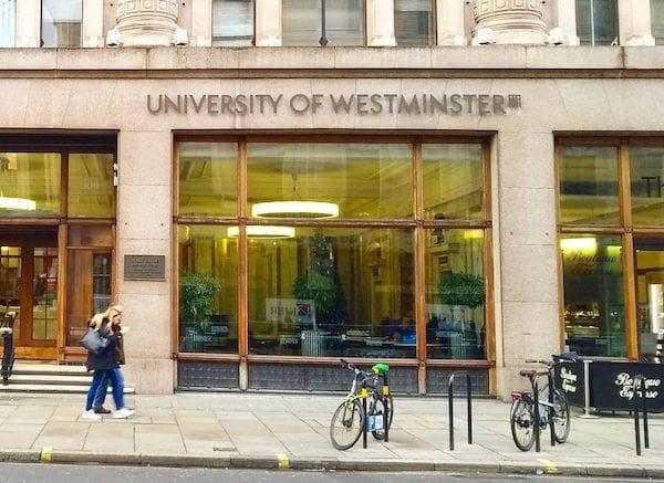 Faculdade de moda, curso de moda, University of Westminster, Reino Unido