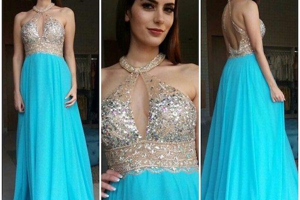 vestido de festa capa