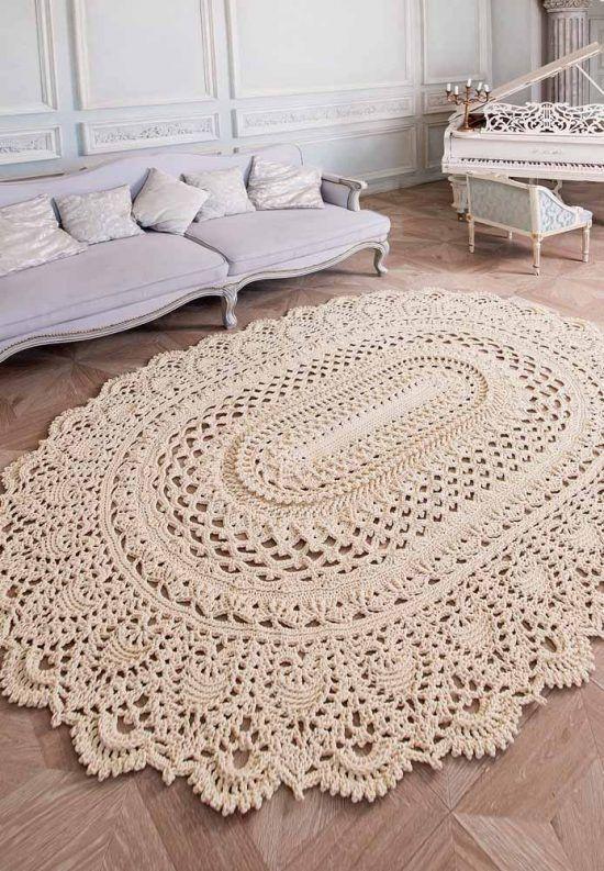 crochê tapete grande