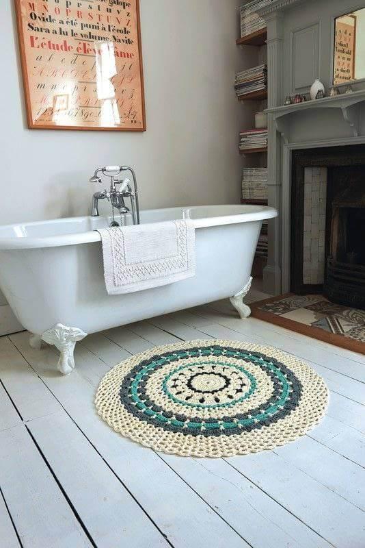 crochê tapetinho para banheiro