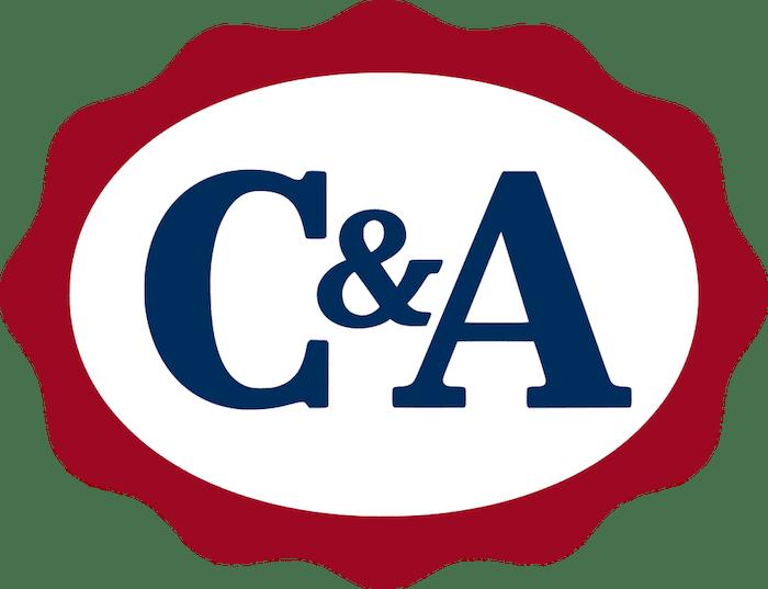 Logo da C&A, lojas de departamento