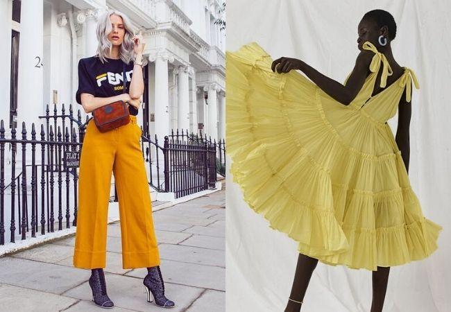 look fim de ano: Amarelo