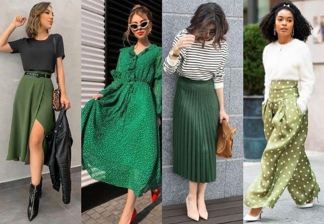 Melhores cores: Modelos verde escuro